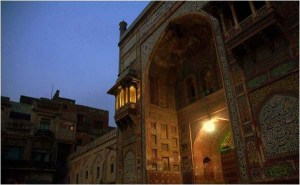 Early morning view of Wazir Khan Mosque