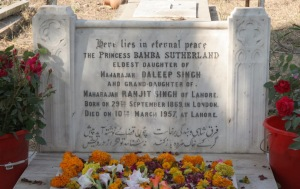 Gora Qabristan, Lahore: Headstone Sutherland Bamba 1957