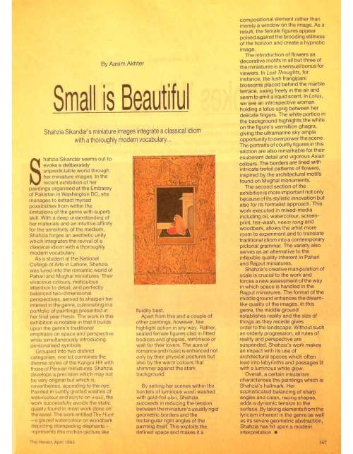 1993 The Herald April Small is Beautiful