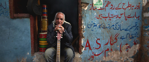 "Asad Ali, the guitarist in the Sachal Jazz Ensemble, is one of the musicians featured in ""Song of Lahore."" 