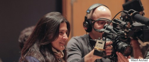 "Sharmeen Obaid-Chinoy and Andy Schocken, co-directors of ""Song of Lahore."""