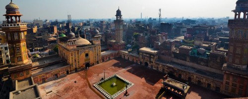 An aerial view of Lahore, Pakistan, from Wazir Khan Mosque. Image credit: Aima Yusaf Jamal